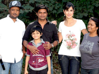 Photo Of Rajiv S. Ruia,Nandan Mohato,Katrina Kaif,Pomila Hunter From The Katrina Kaif shoots for 'Main Krishna Hoon' at Filmcity
