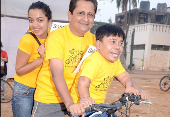 Photo Of Jay Kumar From The SAB TV's entire family participates in Mumbai Cyclothon