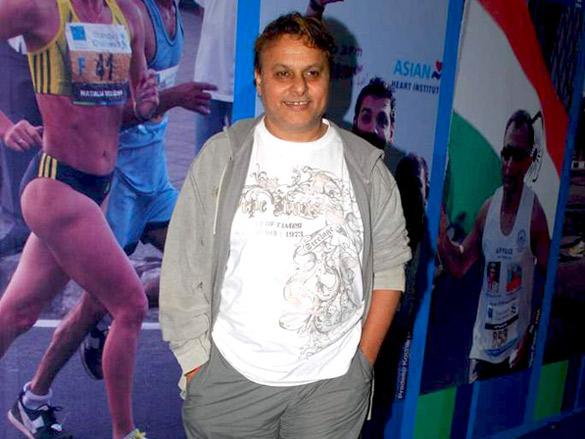 Shaan and Shobhaa De promote Mumbai Marathon