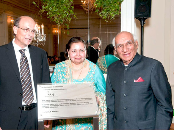 Yash Chopra honored with the title of 'Ambassador of Interlaken'