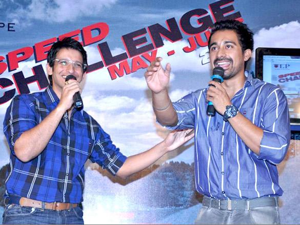 Sharman, Rannvijay and Rana at Louis Philippe Speed challenge