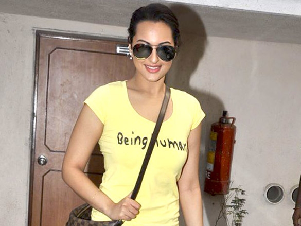 Sonakshi Sinha snapped in Being Human T-shirt