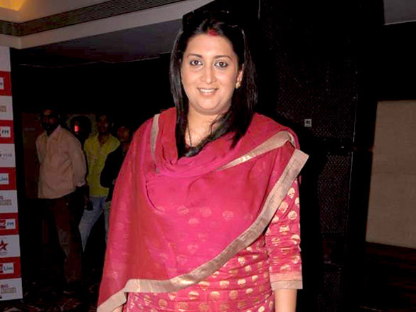Zeenat Aman at the announcement of Big Television Awards