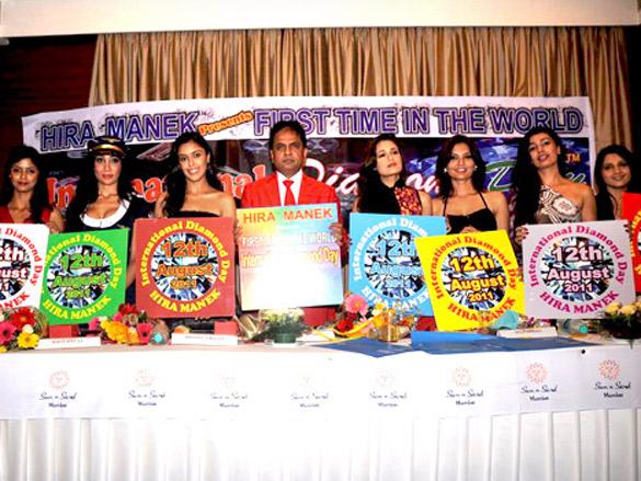 Hrishita Bhatt and Uvika grace International Diamond Day celebrations