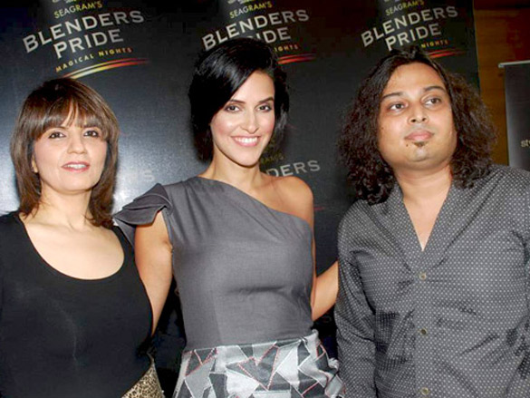 Neha Dhupia and Neeta Lulla at Seagram's Blenders Pride press meet