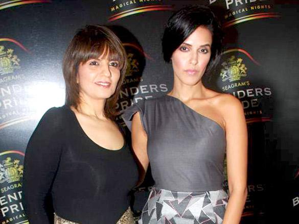 Neha Dhupia and Neeta Lulla at Seagram's Blenders Pride press meet