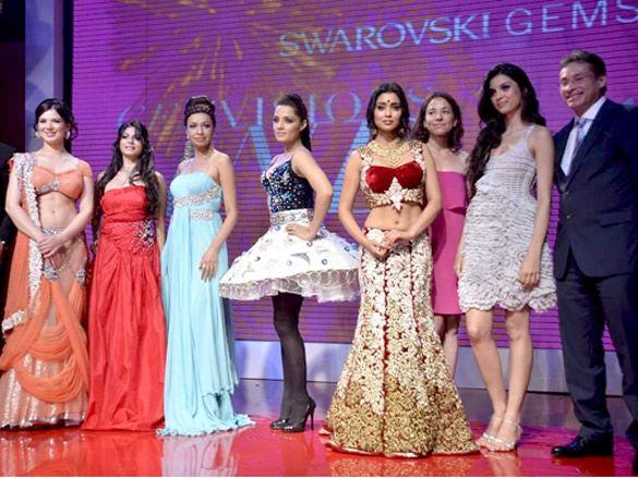Shriya Saran, Celina, Kajol and Tanisha at Swarovski Gems event