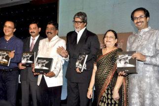 Photo Of Vidhu Vinod Chopra,Amitabh Bachchan,Nitin Chandrakant Desai,Uddhav Thackeray From The Amitabh Bachchan unveils Nitin Desai's book at his 25th year celebrations