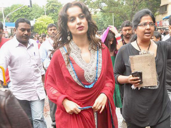 Kangna and Himesh visit Siddhivinayak Temple