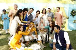 Movie Still From The Film Love Breakups Zindagi,Dia Mirza,Tisca Chopra,Zayed Khan,Satyadeep Mishra,Farida Jalal,Soni Razdan,Cyrus Sahukar