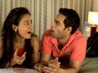 Movie Still From The Film Tere Mere Phere,Sasha Goradia,Jagrat Desai