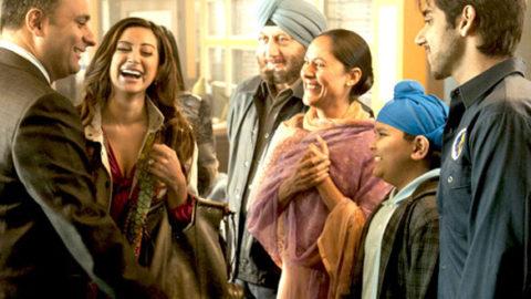 Movie Still From The Film Speedy Singhs,Russell Peters,Noureen Dewulf,Anupam Kher,Sakina Jaffrey,Vinay Virmani