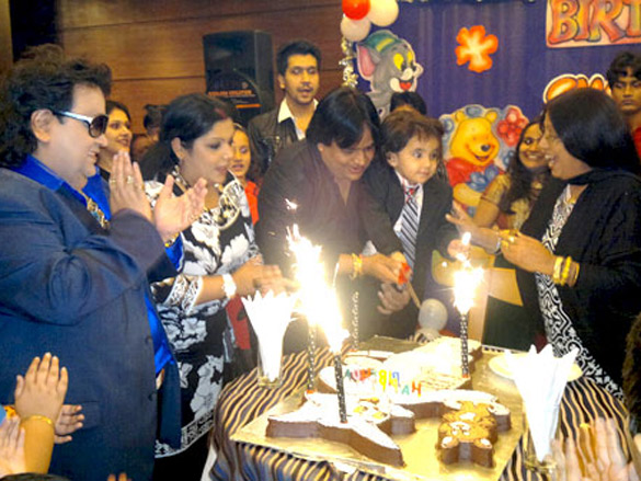 Bappi Lahiri celebrates grandson Swastik's birthday