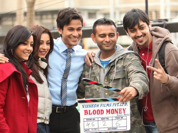 On The Sets Of The Film Blood Money Featuring Amrita Puri,Kunal Khemu,Vishal Mahadkar
