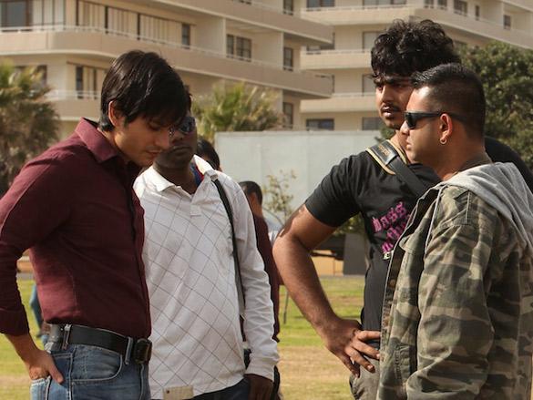 On The Sets Of The Film Blood Money Featuring Kunal Khemu,Vishal Mahadkar