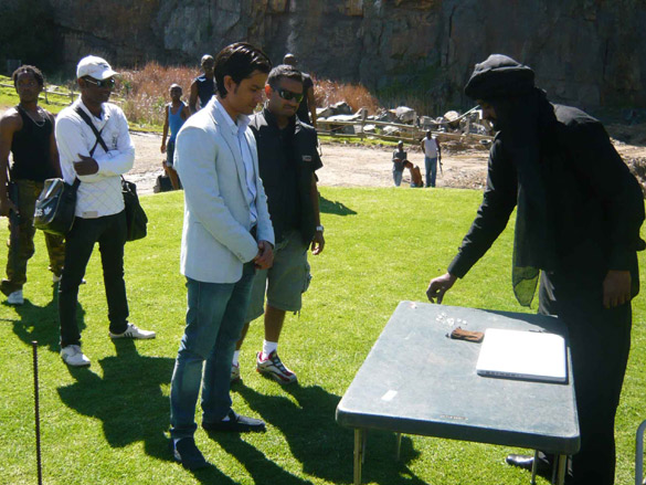 On The Sets Of The Film Blood Money Featuring Kunal Khemu,Vishal Mahadkar