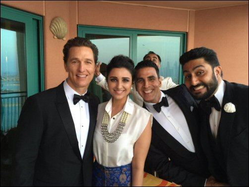 When Akshay, Abhishek and Parineeti met Salma Hayek and Matthew McConaughey