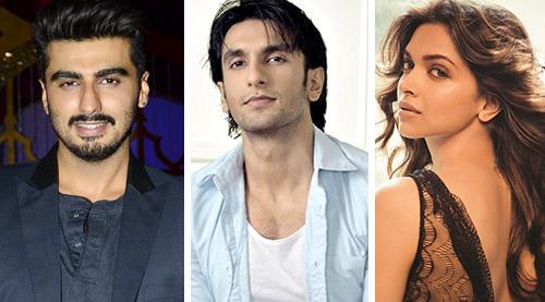 Arjun Kapoor, Ranveer Singh, Deepika Padukone