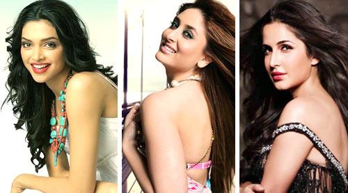 Deepika Padukone, Kareena Kapoor Khan, Katrina Kaif, Priyanka Chopra, Sonakshi Sinha