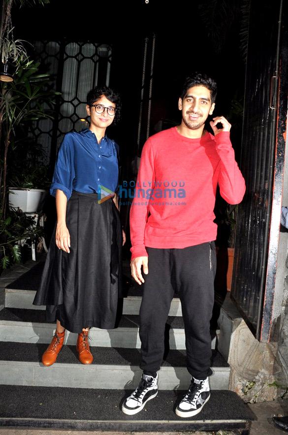 Ayan Mukerji & Kiran Rao snapped at NiDo Caffe