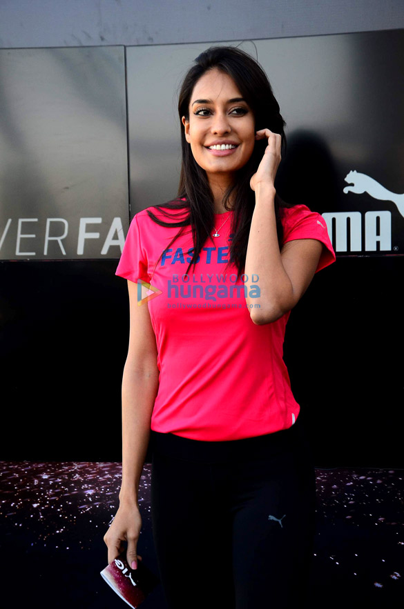 Lisa Haydon at Puma Fitness' press meet