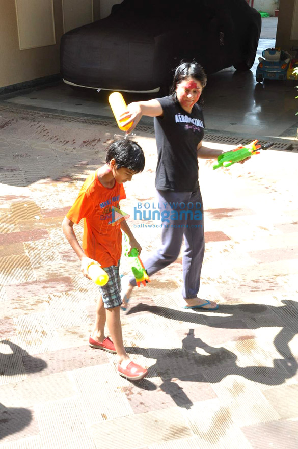 Priya Dutt snapped celebrating Holi