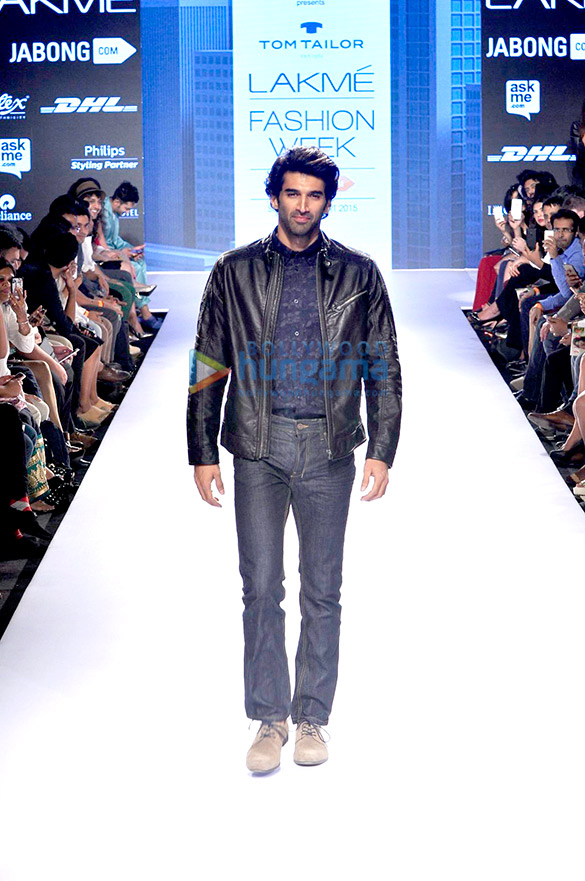 Aditya Roy Kapur walks for Tom Tailor at Lakme Fashion Week 2015