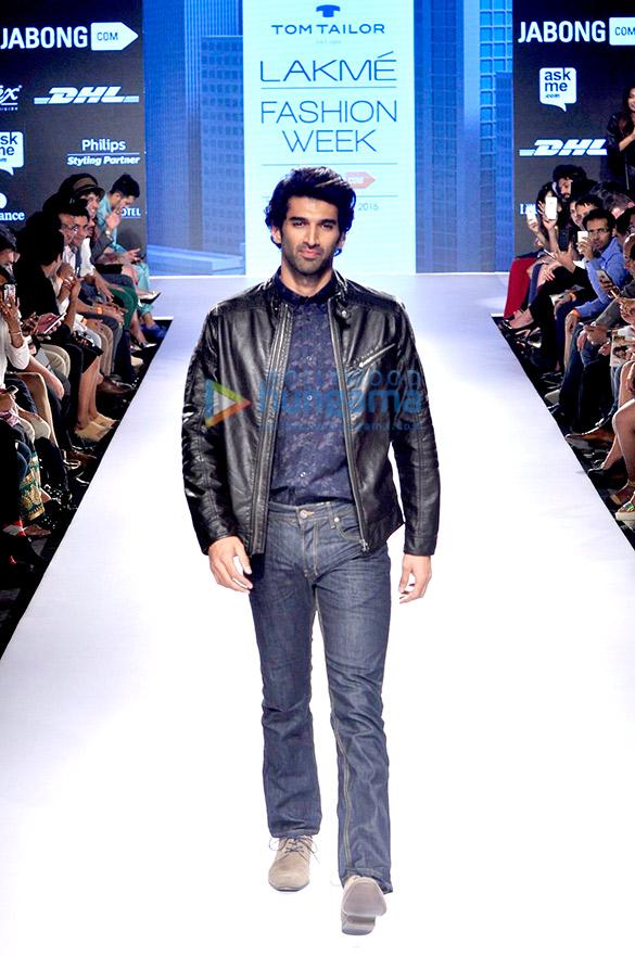 Aditya Roy Kapur walks for Tom Tailor at Lakme Fashion Week 2015