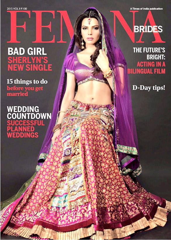 Sherlyn Chopra On The Cover Of Femina,Apr 2015