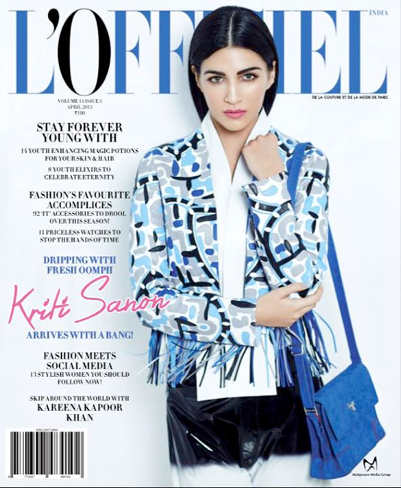 Kriti Sanon On The Cover Of L'Officiel Magazine,Apr 2015