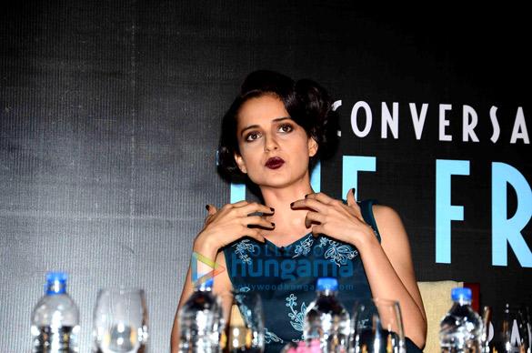 Kangna Ranaut at the launch of Anupama Chopra's book 'The Front Row'