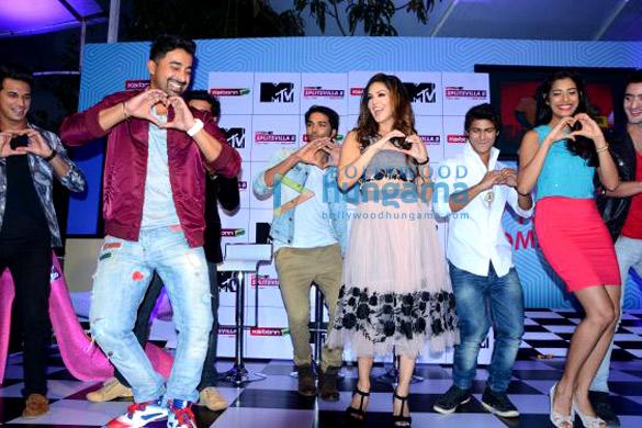 Rannvijay Singh, Sunny Leone, Gaelyn Mendonca