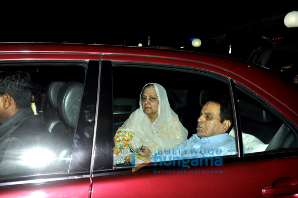 Dilip Kumar & Saira Banu snapped post their visit to doctor