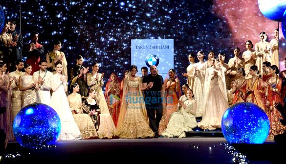 Lisa Haydon walks for Tarun Tahiliani at BMW India Bridal Fashion Week