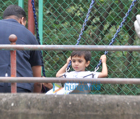 Azad Rao Khan snapped playing in the park