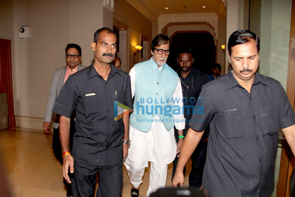 Amitabh Bachchan snapped at JW Marriott