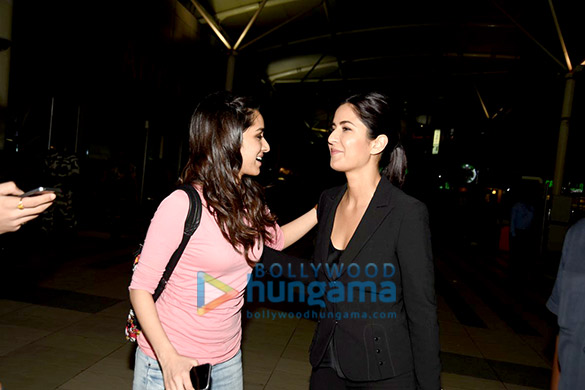 Katrina Kaif, Tiger Shroff & Shraddha Kapoor snapped at the domestic airport