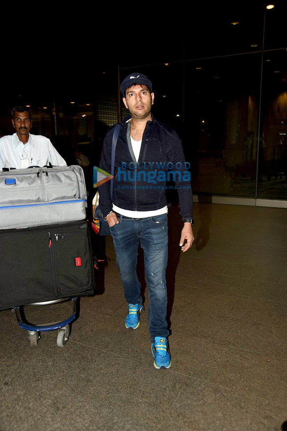 Yuvraj Singh & Hazel Keech snapped at the international airport