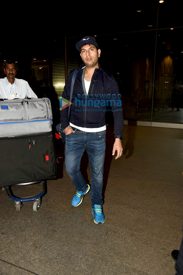 Yuvraj Singh & Hazel Keech snapped at the international airport