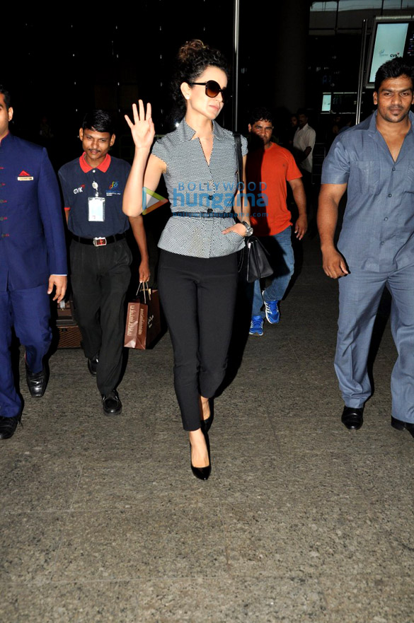 Kangna Ranuat returns after the premiere of 'Queen' in Paris