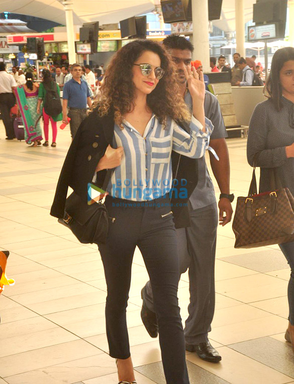 Kangna Ranaut snapped at the Mumbai domestic airport