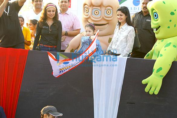 Harshaali Malhotra, Darsheel Safary & Avneet Kaur grace Mumbai Juniorthon