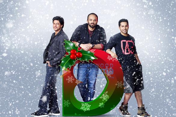 Shah Rukh Khan, Rohit Shetty, Varun Dhawan