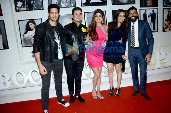 Sidharth Malhotra, Dabboo Ratnani, Manisha D Ratnani, Shraddha Kapoor, Farhan Akhtar