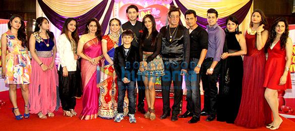 Anil Sharma, Mehul Kumar, Shakti Kapoor and others at the mahurat & song recording of Hindi film 'Love You Family'