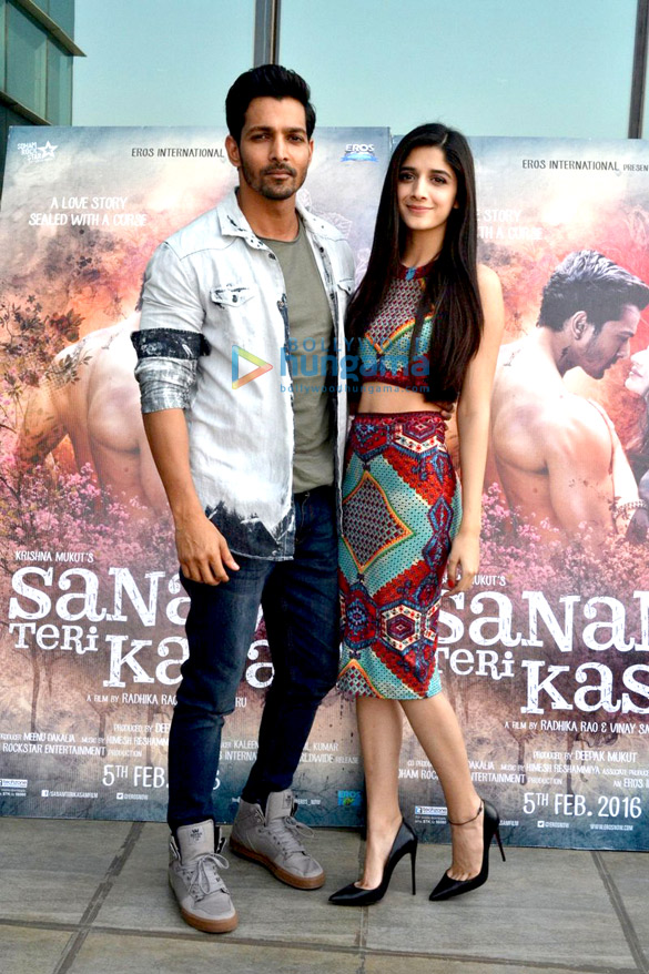 Promotions of 'Sanam Teri Kasam' at Eros office