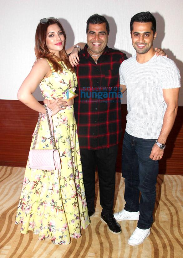 Shailendra Singh, Shama Sikander & Vishal Karwal at the special screening of 'Sexoholic'