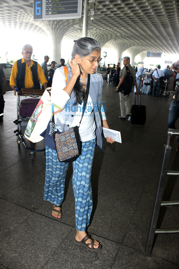 Naseeruddin Shah & Aftab Shivdasani snapped at the international airport