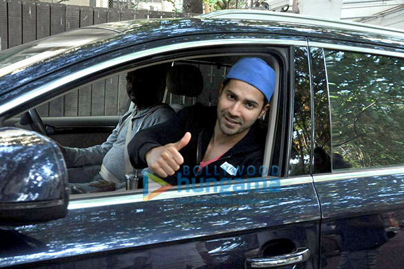 Varun Dhawan snapped post a dubbing session at Sunny Super Sound