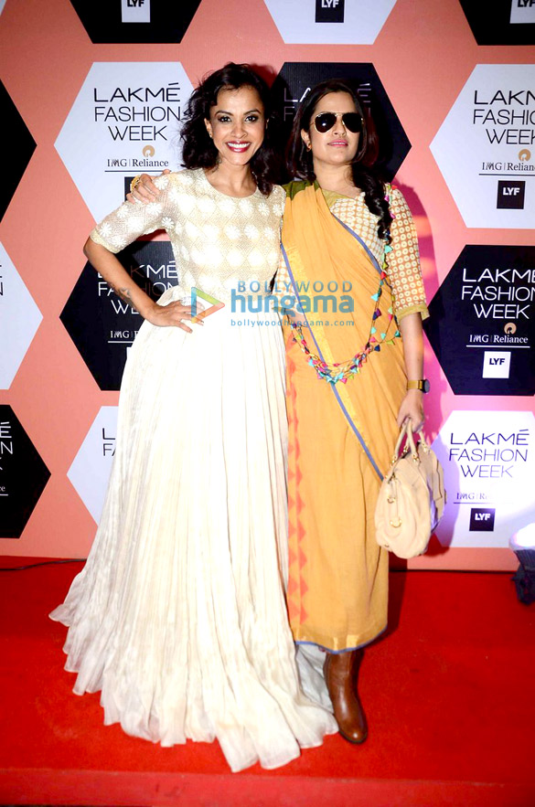 Celebs attend the LFW 2016 on Day 2